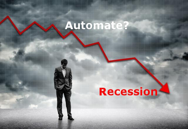 Automate early in a recession
