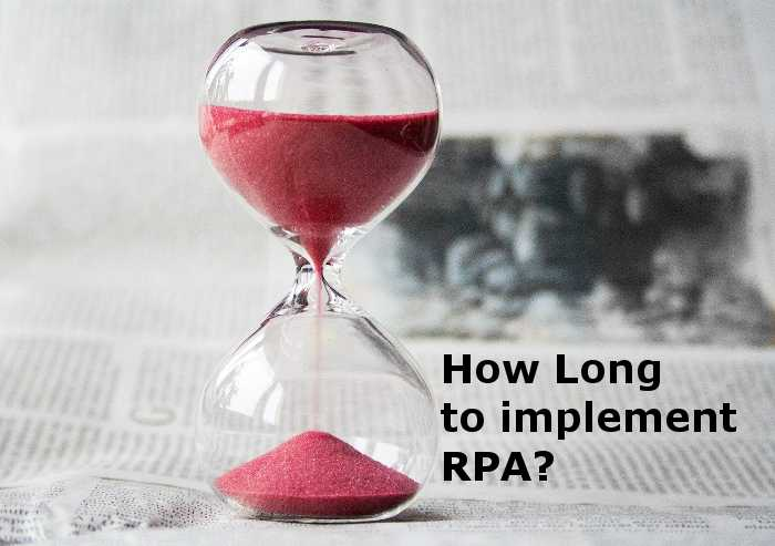 How long to implement RPA?